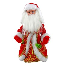 Christmas doll Santa Claus music electric Flashing Dancing 30cm Russian Doll gown Electric Music Toy decorations