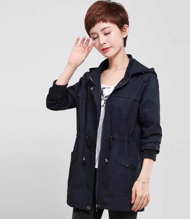 Spring and autumn casual short coat drawstring windbreaker large size loose jacket maternity  WK11