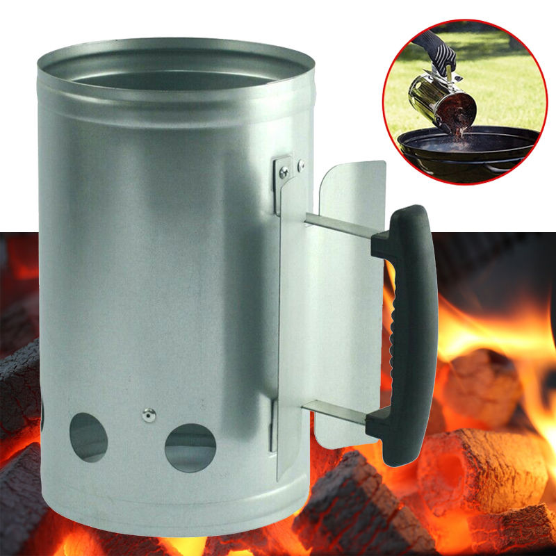 Barbecue BBQ Starter Charcoal Coal Grill Fire Air Blower Quick Fire Tool