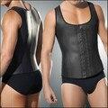 10 pçs/lote Trainer cintura colete para homens preto cintura Cincher Firm Tummy emagrecimento masculino cintura Cincher do espartilho barriga homens cintura Shaper