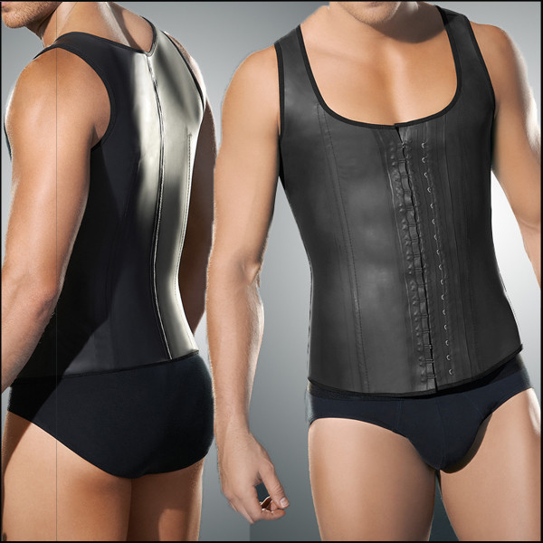 10pcs/lot  Waist Trainer Vest for Men Black Waist Cincher Firm Tummy Slimming Male Waist Cincher Corset Men Waist Belly Shaper