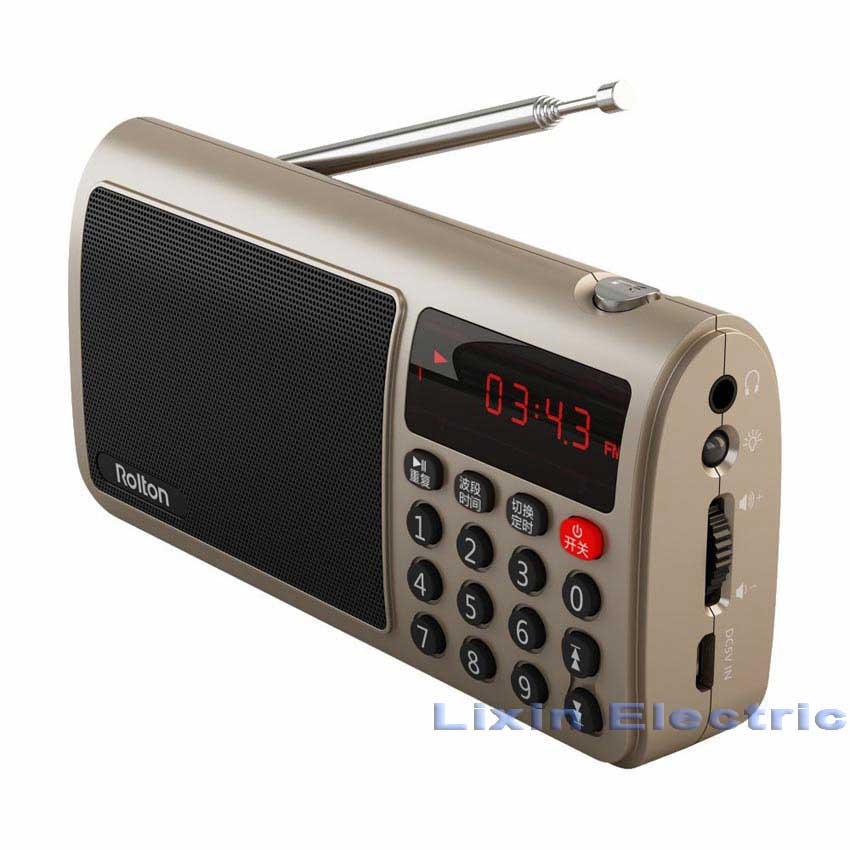 Rolton T50 TF Card Speaker Portable World Band Radio Mp3 Music Player WAV Play Speaker And Flashlight for PC iPod Column