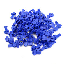 50Pcs Lock Wire Electrical Cable Connector Insulated Quick S