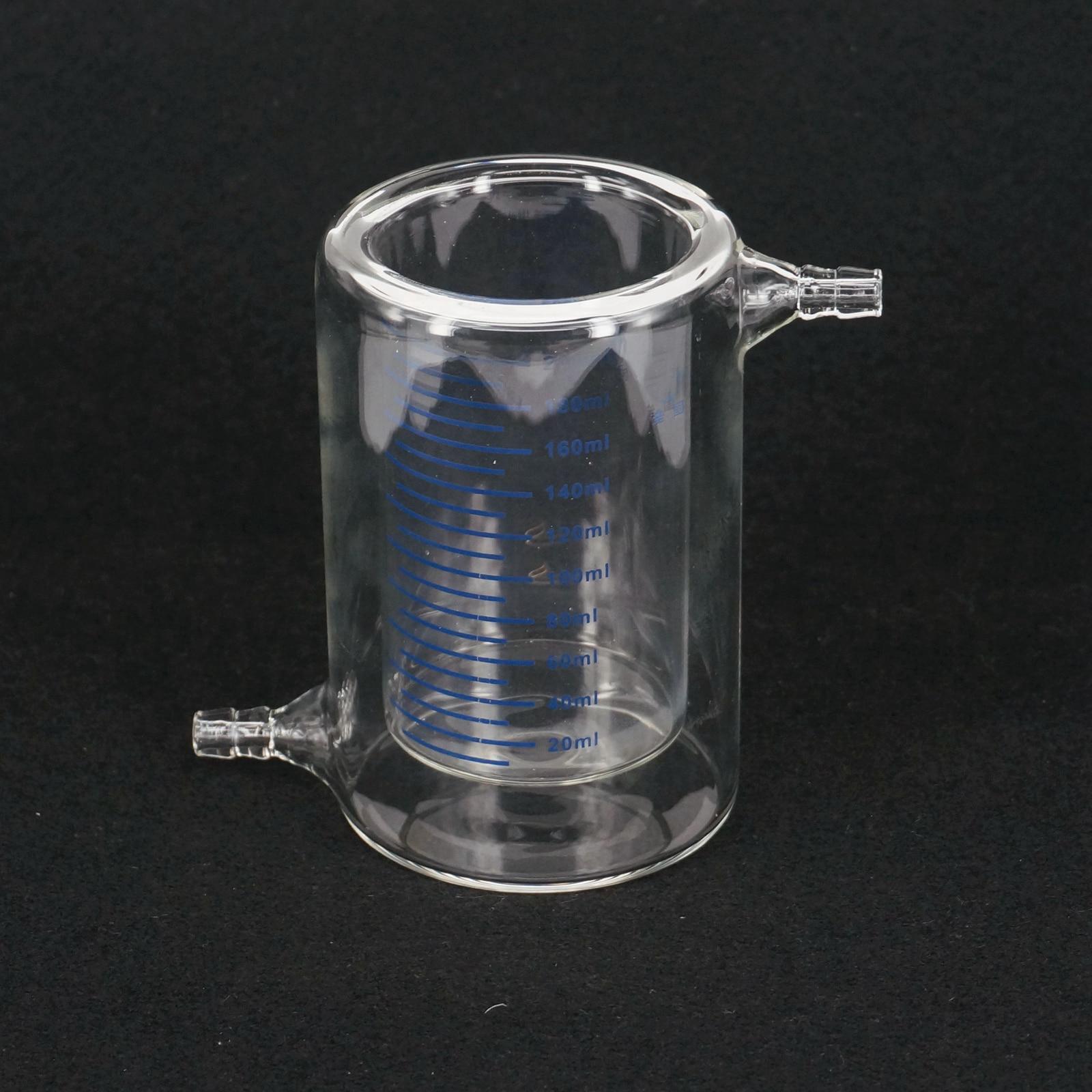 200ml Laboratory Jacketed Borosilicate Glass Beaker Double Layer Beaker for Photocatalytic Experiment 200ml ptfe beaker teflon beaker no handle chemical labware