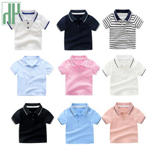 Toddler Boys t shirt 2019 New Summer Children Clothing Short Sleeve Stripe Boys Tops T shirts Casual Cotton kids Tee Top 2Y-7Y недорого