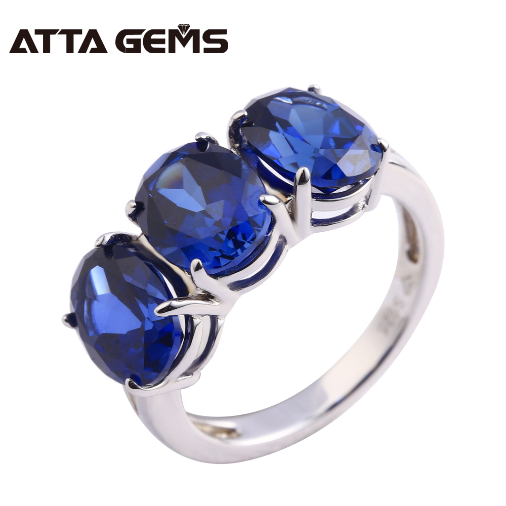 Blue Sapphire Silver Ring 7.95 Carats Blue Sapphire Engagement Wedding Sterling Silver Ring Deep Blue Color Top Quality whisky premium deep blue 90 мл parfums evaflor whisky premium deep blue 90 мл