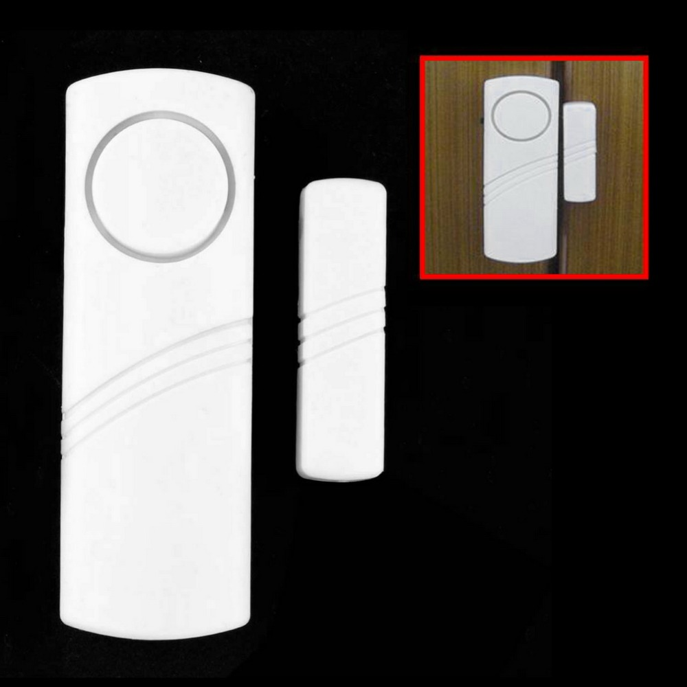 Door Window Wireless Burglar Alarm with Magnetic Sensor Home Safety Wireless Longer System Security Device White Wholesale 100db wireless alarm system burglar safely security window door home magnetic sensor best promotion