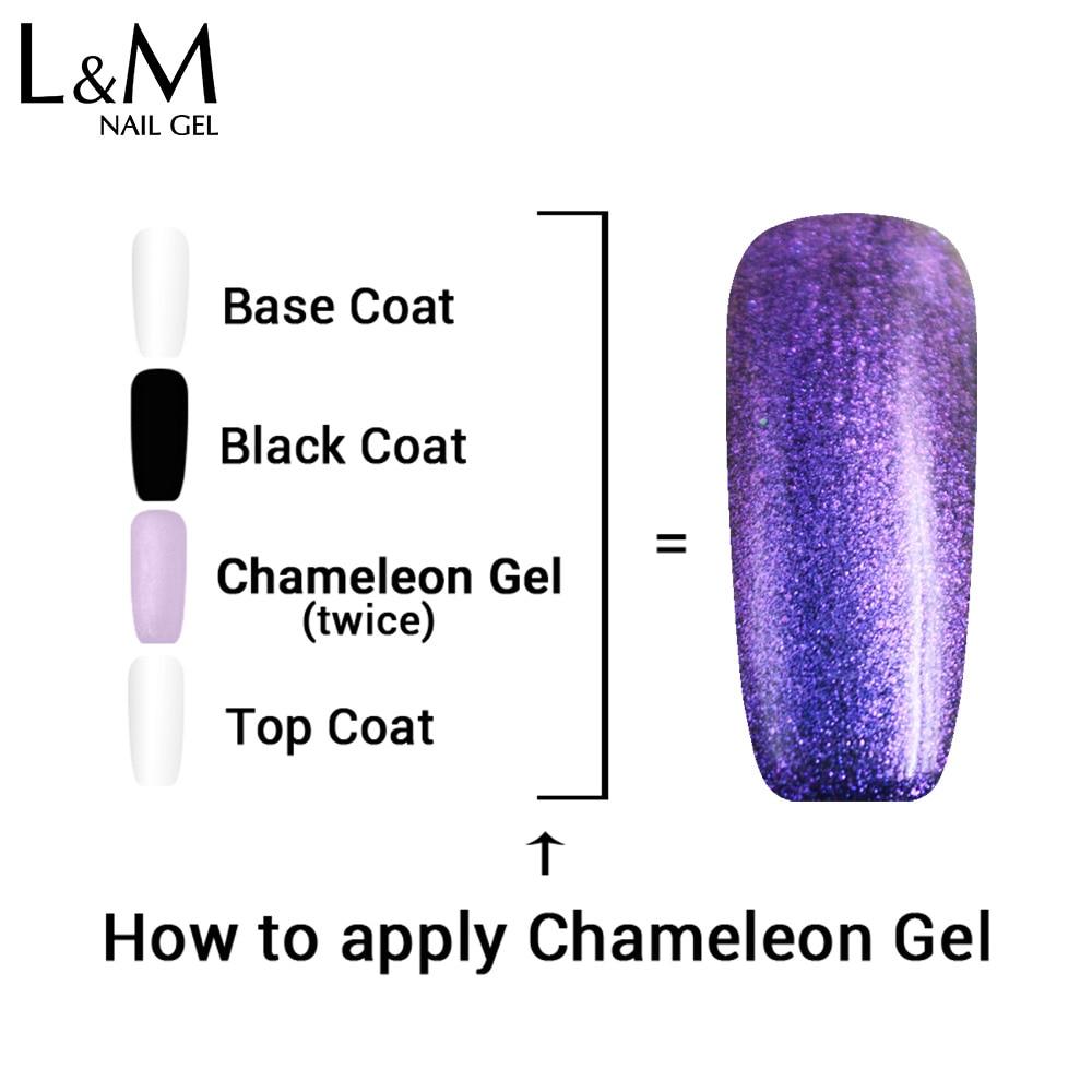 Esmalte para uñas IBDGEL Brand Chameleon (1 color negro + 9 colores - Arte de uñas - foto 4