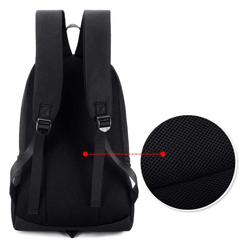 Nam Thời Trang Sạc USB Dạ Quang Ban Đêm Ba Lô Cá Mập Ba Lô Laptop Túi Đeo Trước Ngực Túi Đeo Thanh Thiếu Niên Học Mochila Du Lịch Màu Đen