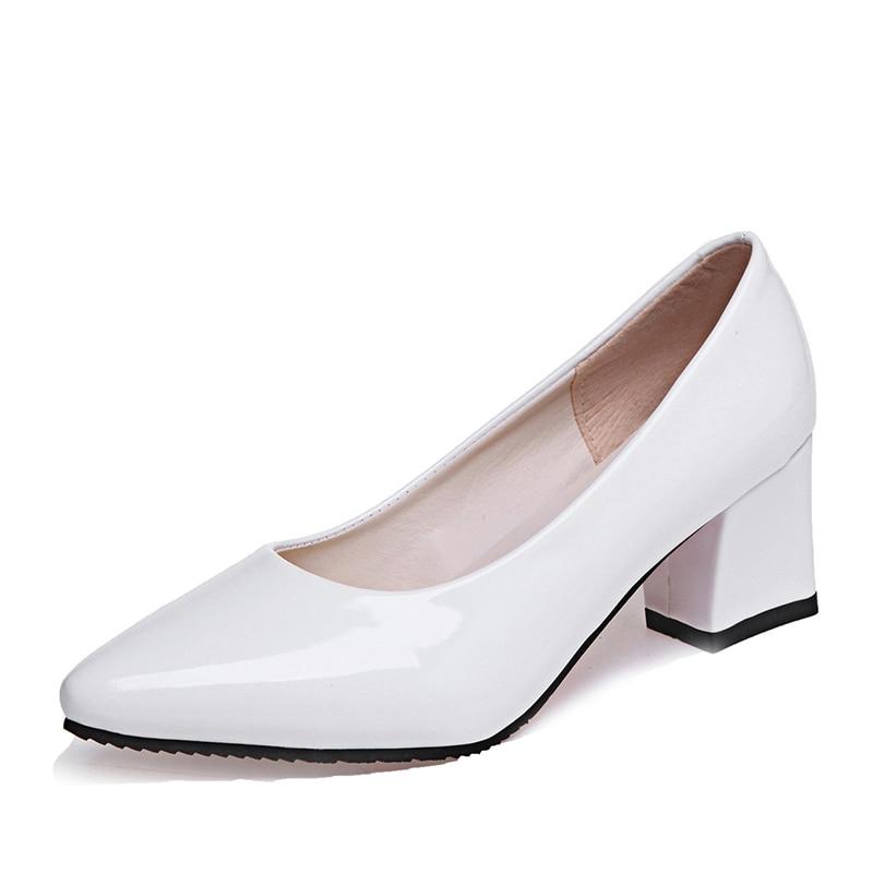 Low Heel White Pumps | Fs Heel