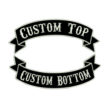 Custom embroidery rocker name Patch tag personalized and number patches customized