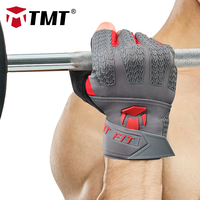 TMT goatskin gym gloves gym equipment crossfit dumbbell bodybuilding Weight Lifting Wrist Wrap Sports Exercise Training Fitness