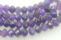 AA loose beads amethyst ROUNDEL FACERED 8*10MM nature beads for making jewelry necklace 14inch FPPJ wholesale
