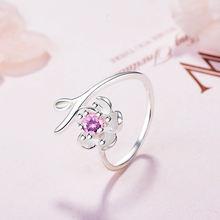 Женское кольцо с цветком вишни вечерние Открытые Кольца из стерлингового