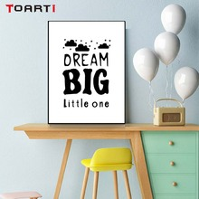 Dream Big Life Quote Black and White Wall Art Prints Canvas Paintings Poster Pictures Bedroom For Kids Bedroom Home Decor wall art canvas paintings good morning good night bedroom prints black white pictures poster gift kids room decorative