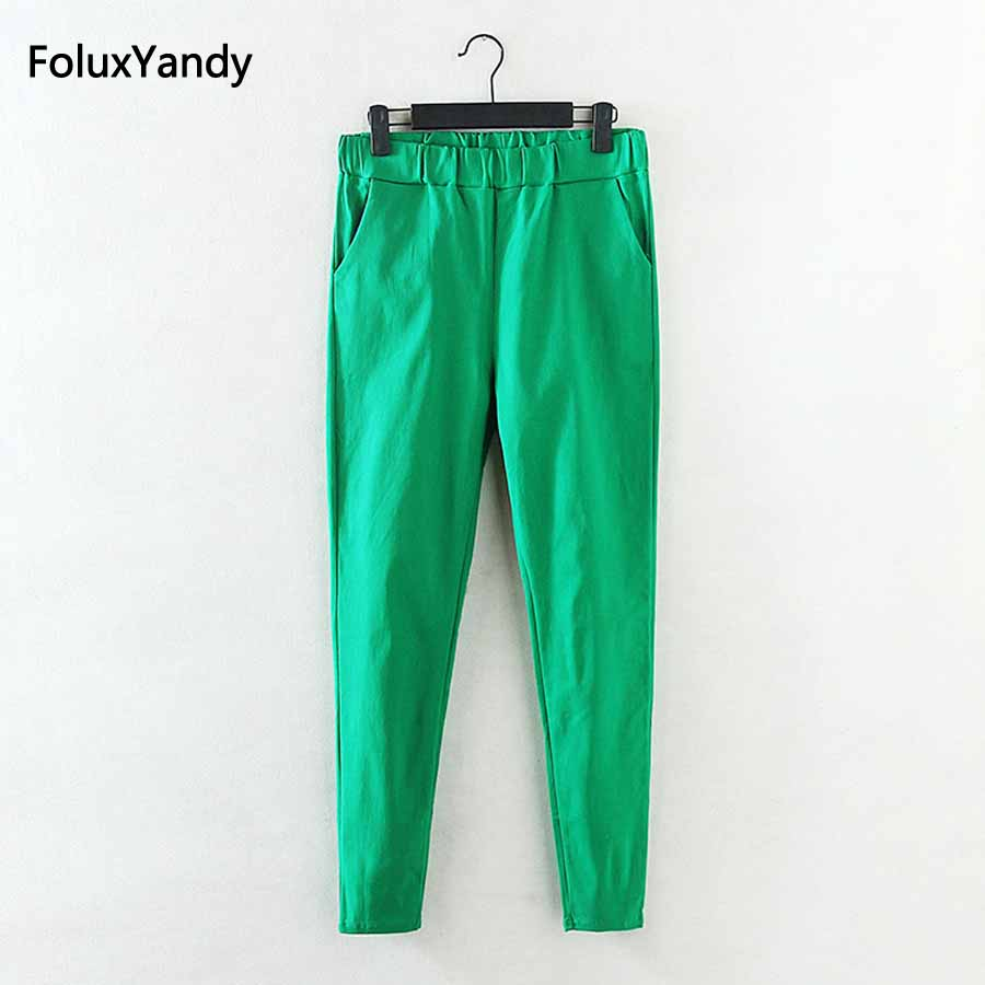 Elastic Pencil Pants Women Brand New Casual Plus Size 3 4 5 XL Slim - Women's Clothing