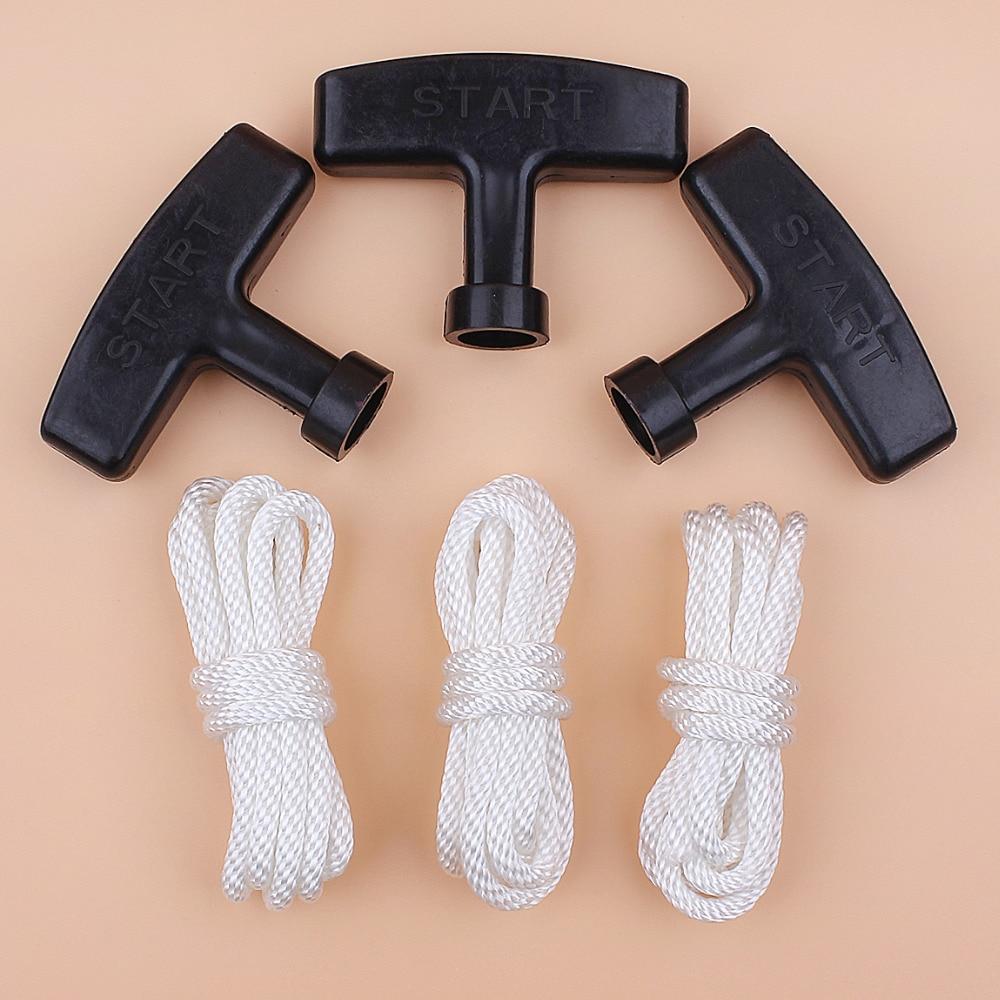 Pull Starter Handle Rope Kit For Honda GX270 GX340 GX390 GX420 GX610 GX620 188F 190F 4-Stroke Engine Motor Generator Water Pump