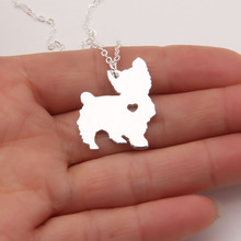 Popular pendant yorkie buy cheap pendant yorkie lots from china 1pcs new yorkie necklace heart dog pet memorial gift dog christmas gift necklaces pendants women animal pendant charms 1089 aloadofball Choice Image