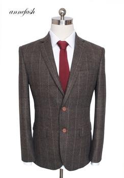 Custom Made Woolen dark brown Herringbone Tweed   3