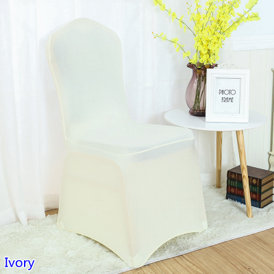spandex banquet chair covers for sale revolving luxury cover ivory colour flat front lycra stretch wedding decoration wholesale on in from home