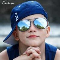Kids Polarized Sunglasses Boys Girls Baby Child 90's Pilots Sun Glasses Goggles 2020 Trend Mirror Glasses Brand Children Shades