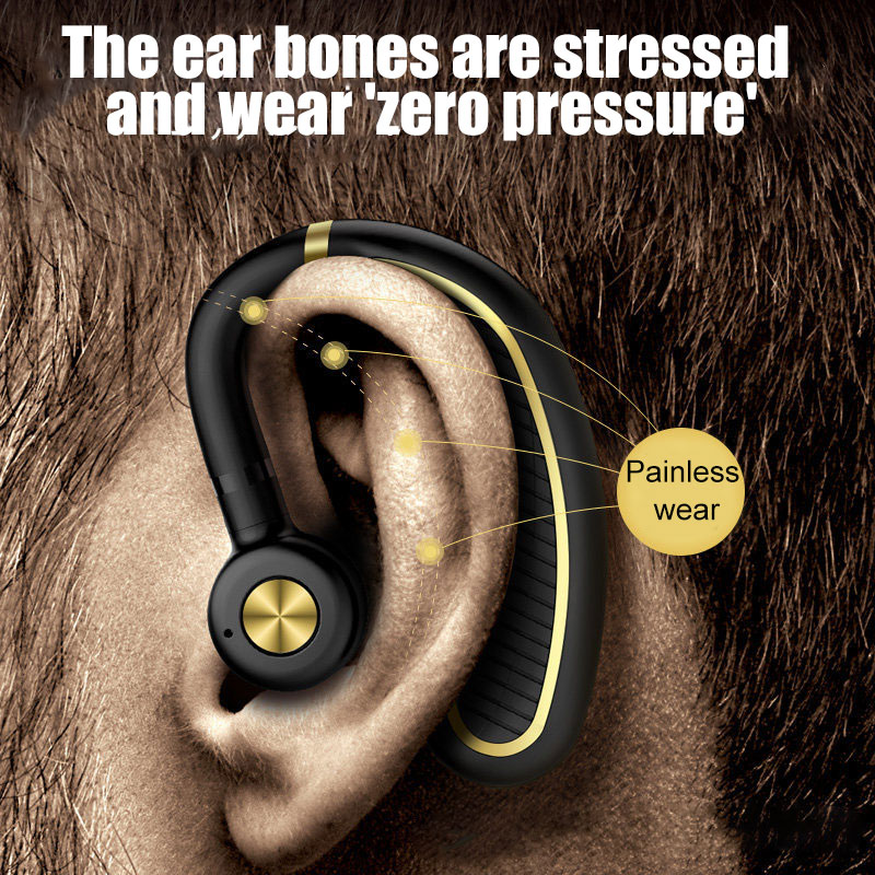 Wireless Bluetooth5.0 Headset Noise Canceling Water-Resistant Car Sports Headphones NK-Shopping