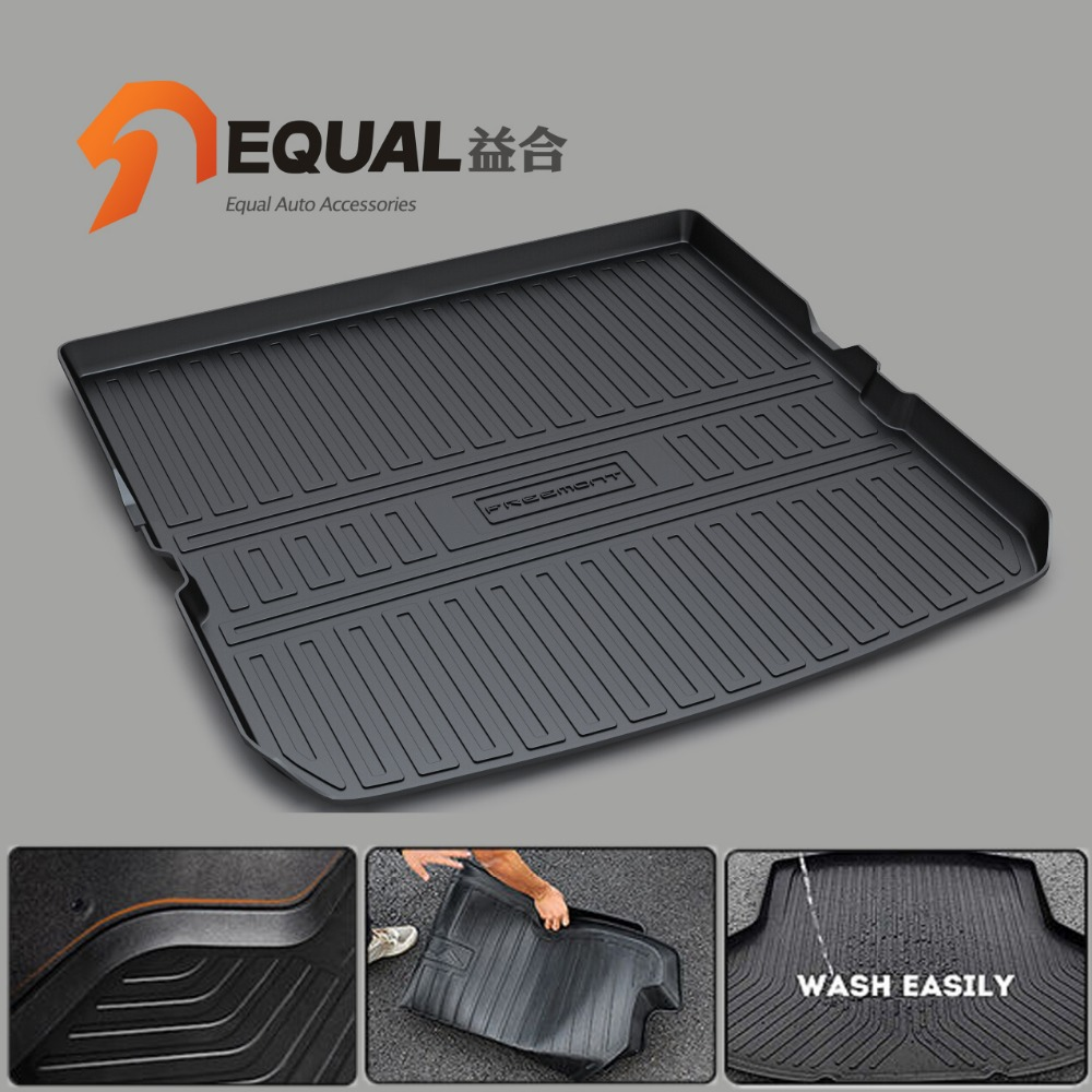 Custom fit car trunk mats for FIAT FREEMONT BOOT LINER REAR TRUNK CARGO MAT TRAY CARPET COVER MUD COVER PROTECTOR TPO custom fit car trunk mats for nissan x trail fuga cefiro patrol y60 y61 p61 2008 2017 boot liner rear trunk cargo tray mats