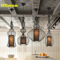 New classical creative engineering shop restaurant floor elevator lamp, wrought iron bar Big noble birdcage chandelier