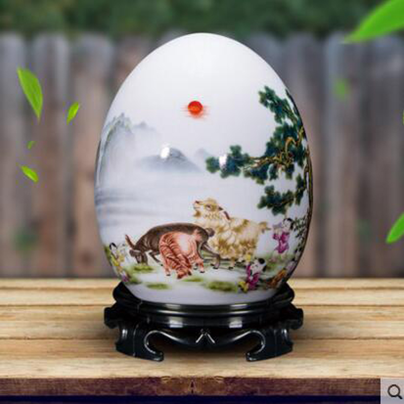 Ceramic vase decoration living room decoration Chinese creative home new house wine cabinet craft decoration blessing egg