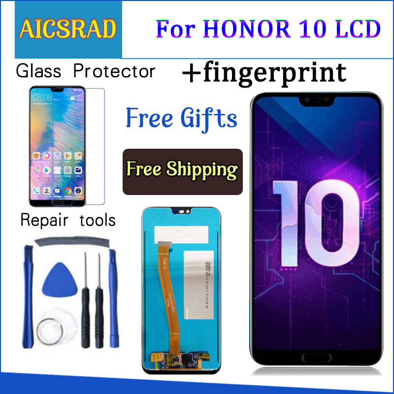 Tested 5.84 For Huawei Honor 10 honor10 LCD Display +Touch Screen Digitizer Assembly Replacement +fingerprint COL-L29Tested 5.84 For Huawei Honor 10 honor10 LCD Display +Touch Screen Digitizer Assembly Replacement +fingerprint COL-L29