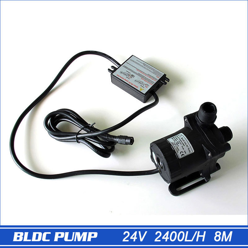 New Model DC 24V Large Flow Submersible Water Pump Swimming Pool Pump Solar Pump Hot Water Recirculating Pump 2400L/H 8 MetersNew Model DC 24V Large Flow Submersible Water Pump Swimming Pool Pump Solar Pump Hot Water Recirculating Pump 2400L/H 8 Meters