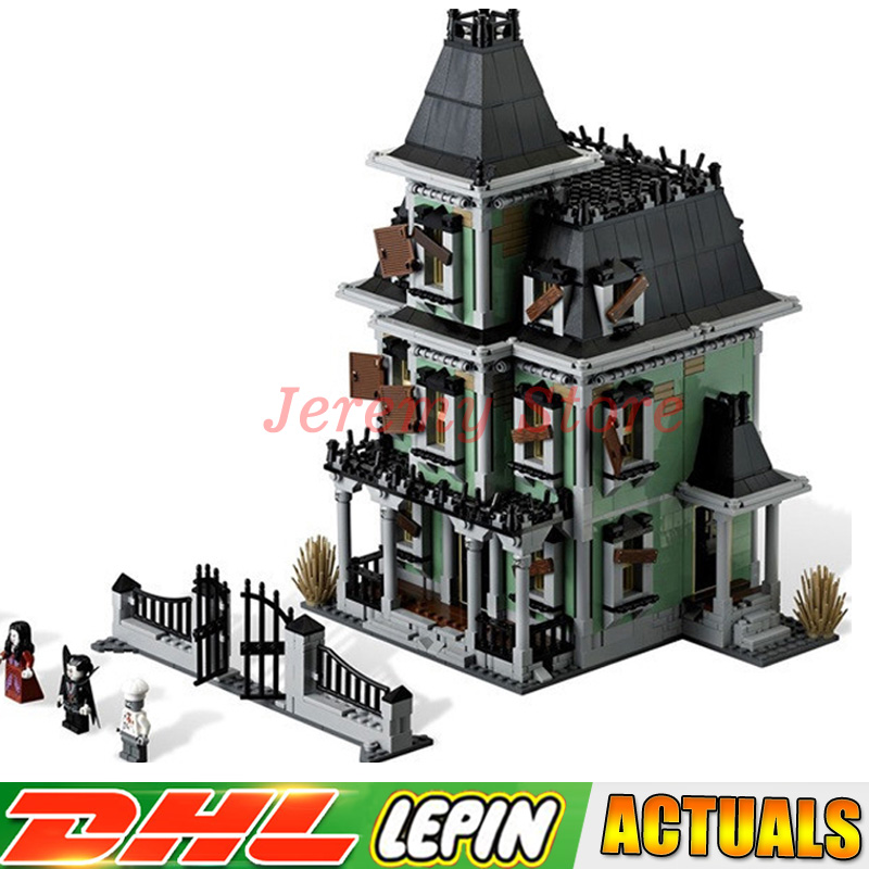 LEPIN 16007 2141Pcs Monster fighter The haunted house Model set Building for Kit DIY Educational Gift Compatible With 10228 hf movie figures 2141pcs monster fighter haunted house model building kits blocks bricks toys for children compatible with 10228