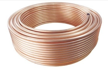 20Meters Outer Diameter:10mm Thickness:1mm Flexible T2 Copper Tube Air Conditioner Pipe