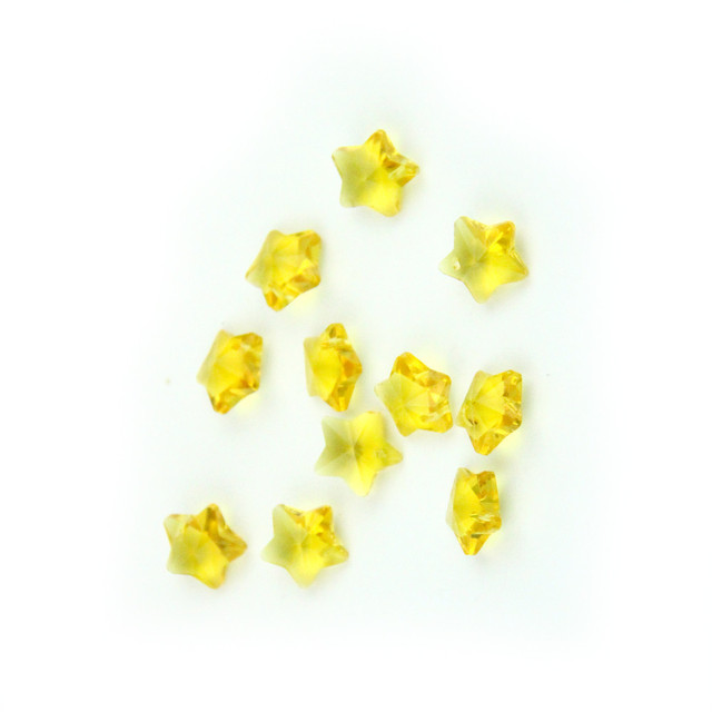 Yellow 1000pc14mm Crystal Star Beads Diy Beads In One Hole,Wedding ...
