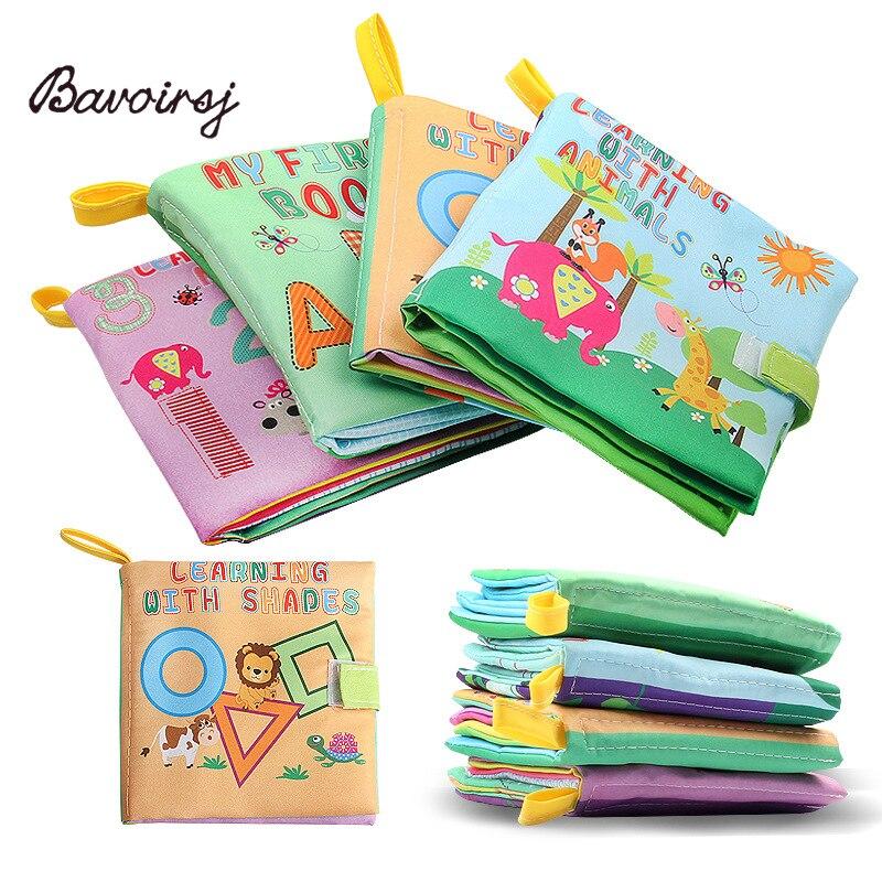 Bavoirsj Rattle Montessori Inggris Surat Puzzle Kain Buku Kertas Bayi - Belajar dan pendidikan