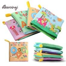 Bavoirsj Rattle Montessori Inggris Surat Puzzle Kain Buku Kertas Bayi Cerita Boneka Boneka Waldorf Baru Lahir Gif Kecil Mainan Menggambar B1802
