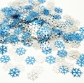 Chirstmas snowflake Sprinkles Wedding Frozen BIRTHDAY Party decoration 2cm TABLE GLITTER BLUE SILVER SNOWFLAKE ,etallic Confetti