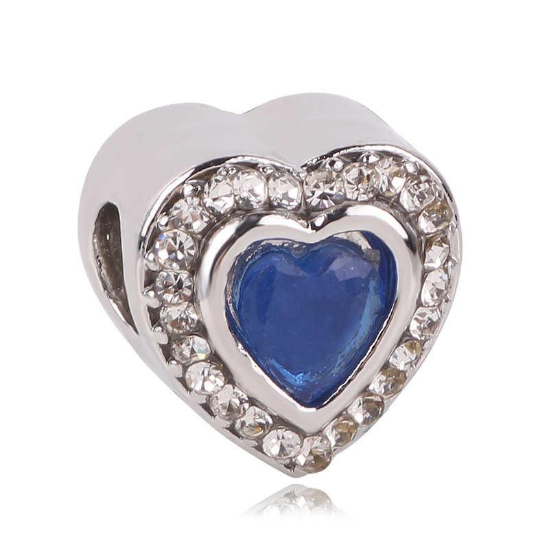 925 เงินสีฟ้าสไตล์คริสต์มาส snowman snowflake bead Fit Pandora สร้อยข้อมือลูกปัดสำหรับผู้หญิง Charm เครื่องประดับ DIY ของขวัญ