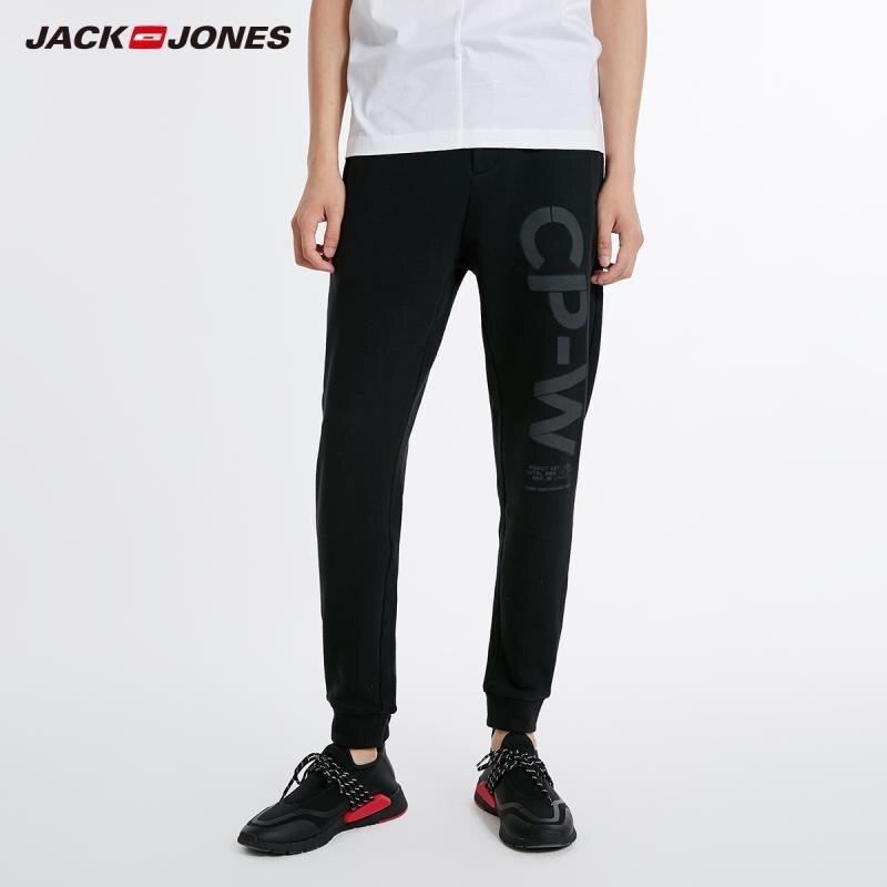 JackJones Men's Cotton Letter Print Leisure Pants Jogger Sport Sweatpants Menswear 218314575