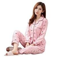 e11d873f4a03fe7 Cute Cartoon Pajamas Women Pajamas Sets Autumn Polar Bear Women Sleepwear  Pajamas Mujer Floral