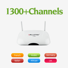 Android Smart TV Caja Quad Core Set Top Box con 1100 Árabe IPTV libre Cuenta para Europa Italia REINO UNIDO Canl IPTV Media jugador