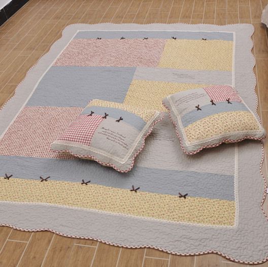 Cotton thickening 100% Large bedroom floor mats carpet baby crawling mat blanket mattress slip-resistant pad