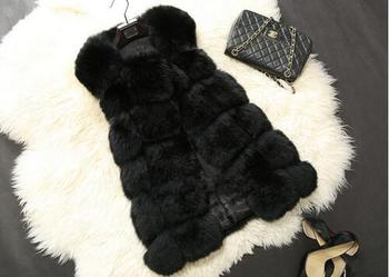 Luxury Faux Fox Coats Jacket8