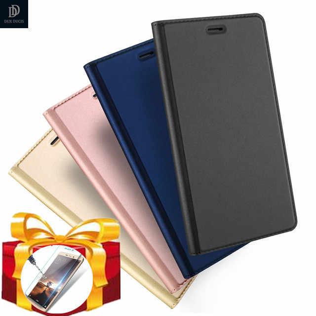 gift) DUX DUCIS Luxury Flip Leather Case for Huawei P20 Pro P8 P9 P10 Nova Lite Y6 Honor 9 8 Dual Sim PU Leather Wallet Book