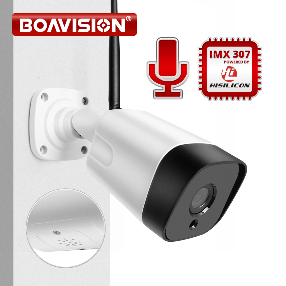 HD 1080P IP Camera Outdoor WiFi Two Way Audio Home Security Camera Wireless Surveillance Bullet Waterproof