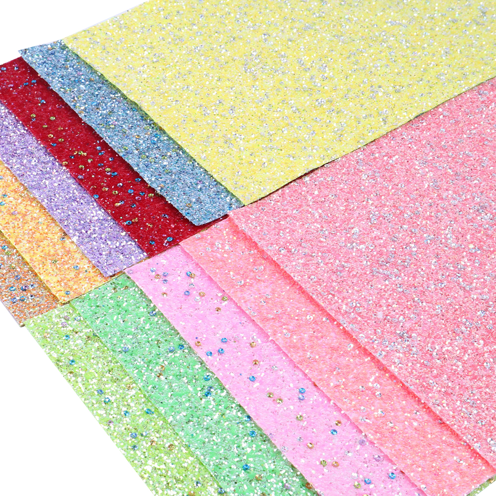 6fb5c54f8f David accessories 20*34cm glitter Sequin faux artificial Synthetic leather  fabric hair bow diy decoration crafts 1piece,1Yc5353