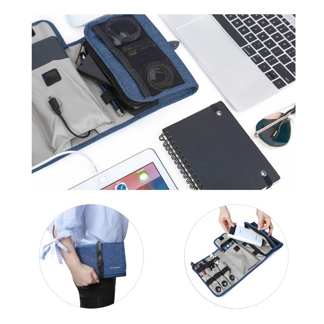 Bagsmart Travel Gadgets Organizer Bag, Electronics Accessories Carrying Case Pouch for Charger USB Cables SD  Earphone