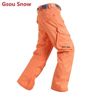 New 2016 Winter Snowboard Pants Orange Ski Pants Men Warm Mens Snow Pants Thermal Watherpfoof Esqui