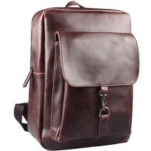 Soft Leather men's backpack preppy style backpack school bag college bag travel bag shoulder men bags daypacks  mochila feminina