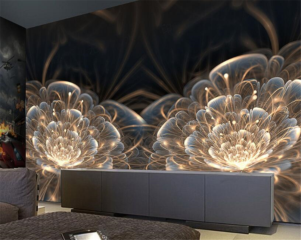 Home Improvement Beibehang Custom Wallpaper Dazzling Flower Coffee Table Design Bar Tooling Background Wall Decoration Painting 3d Wallpaper Painting Supplies & Wall Treatments